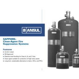Ansul Sapphire Clean Agent Fire Suppression